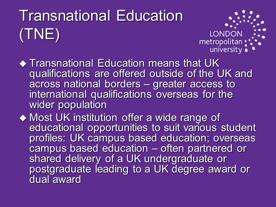 Transnational Education (TNE)