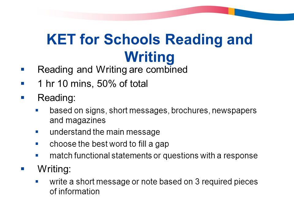 KET for Schools Reading and Writing
