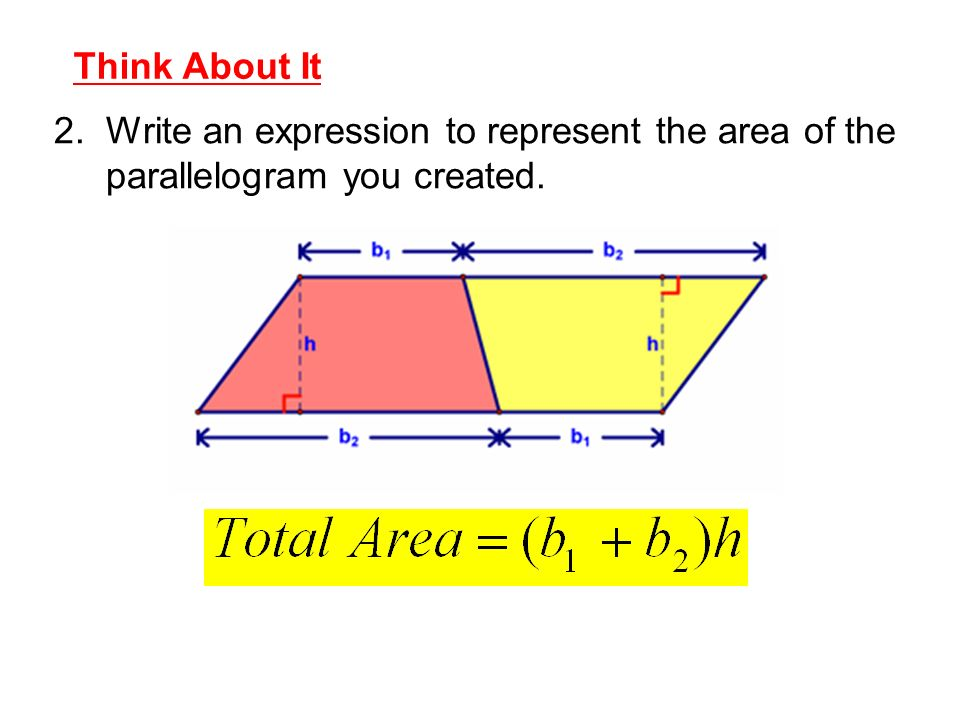 Write an expression that represent the area of a rectangle?