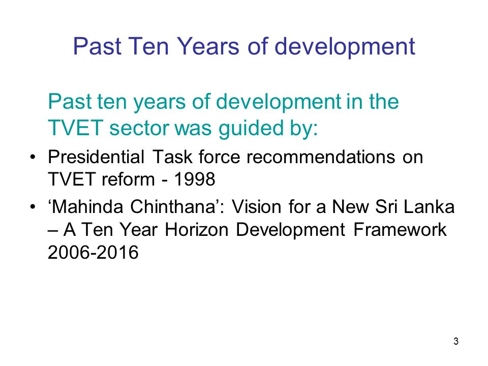 Past Ten Years of development