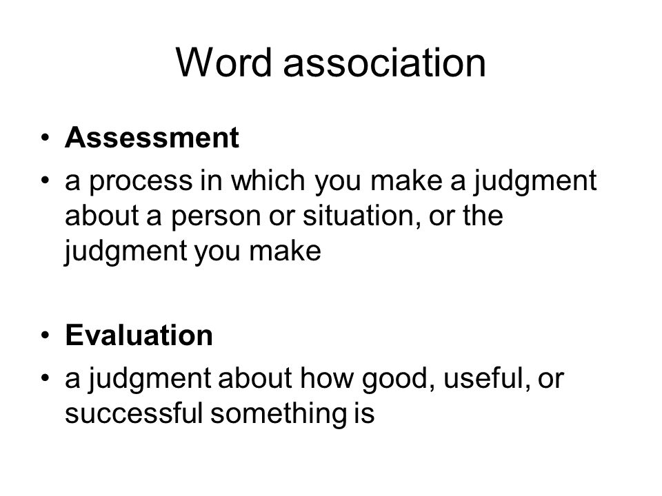 Word association Assessment