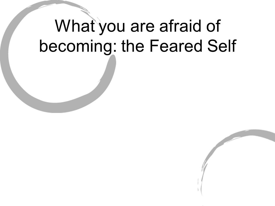 What you are afraid of becoming: the Feared Self