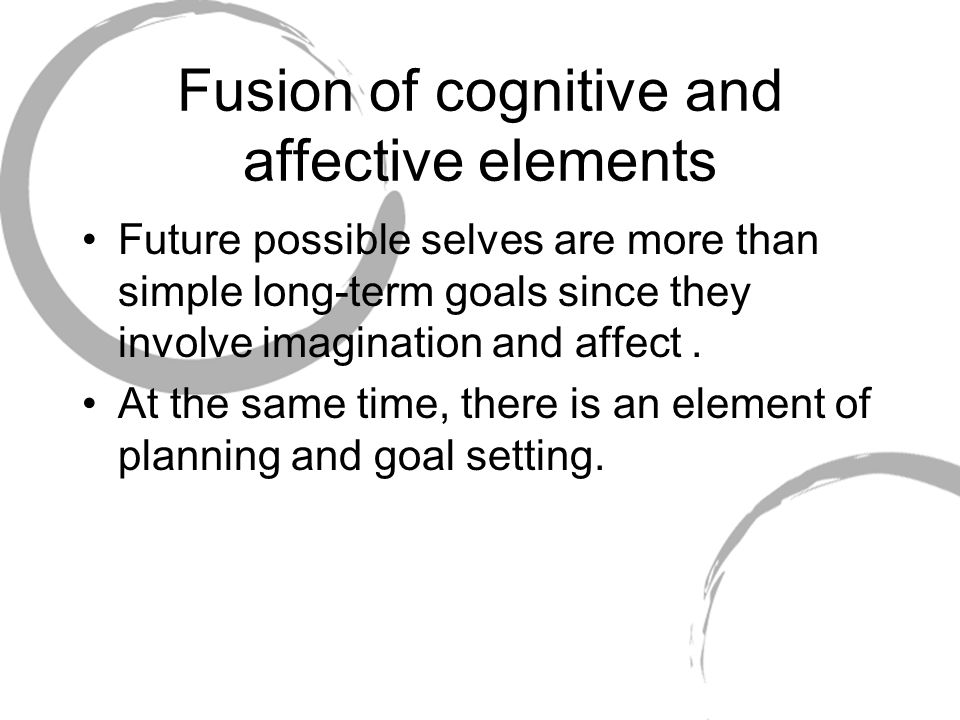 Fusion of cognitive and affective elements