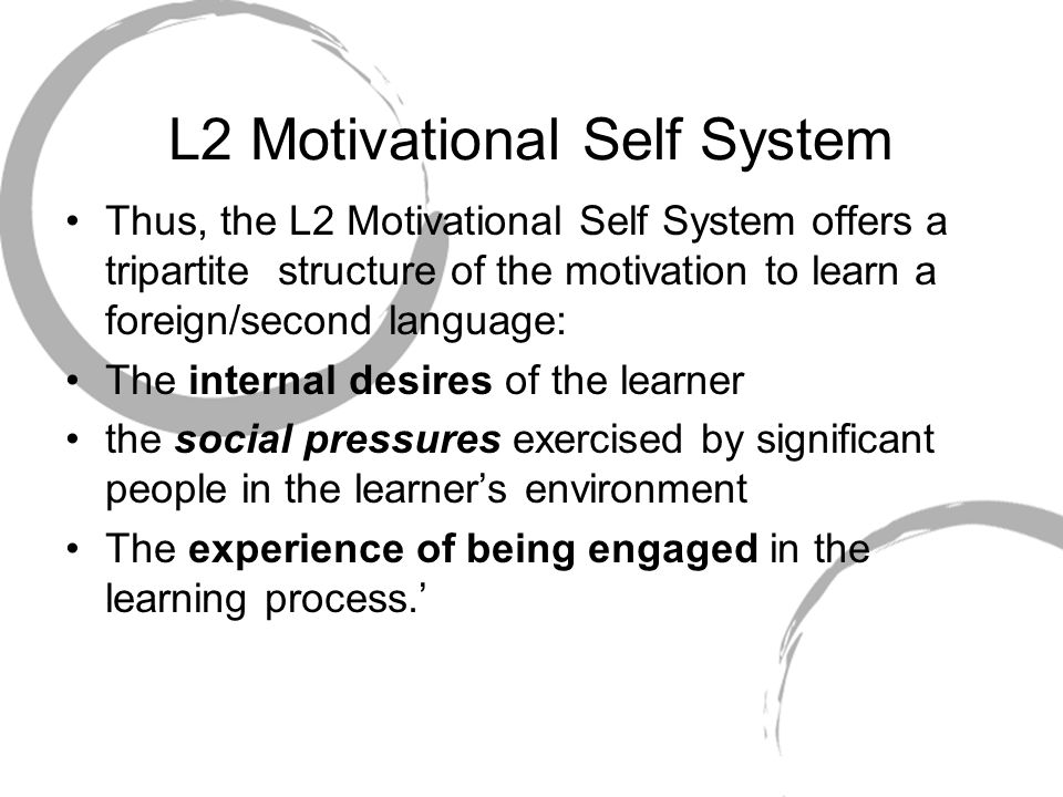 L2 Motivational Self System