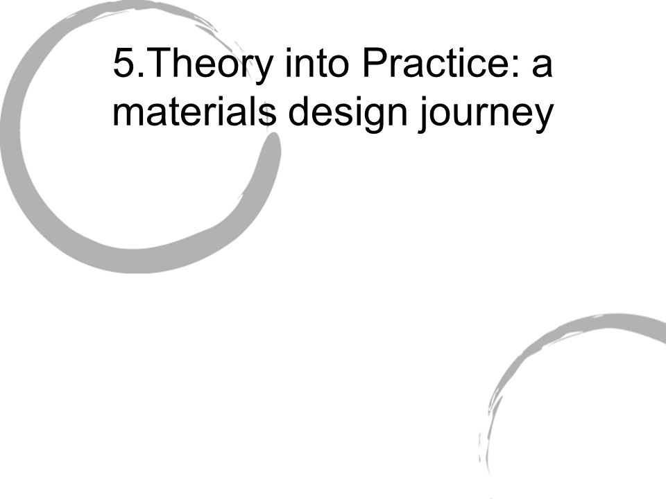 5.Theory into Practice: a materials design journey