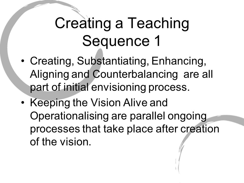 Creating a Teaching Sequence 1