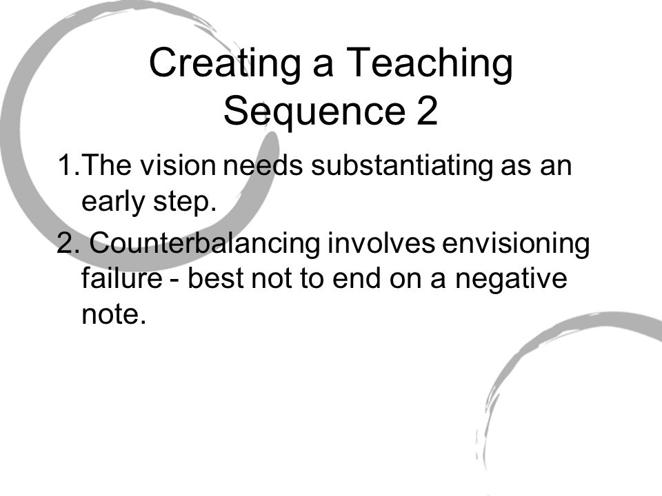 Creating a Teaching Sequence 2