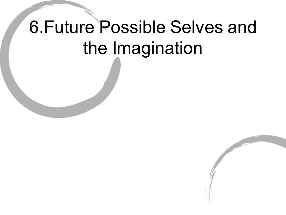 6.Future Possible Selves and the Imagination