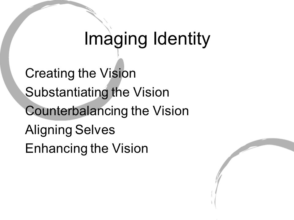 Imaging Identity Creating the Vision Substantiating the Vision