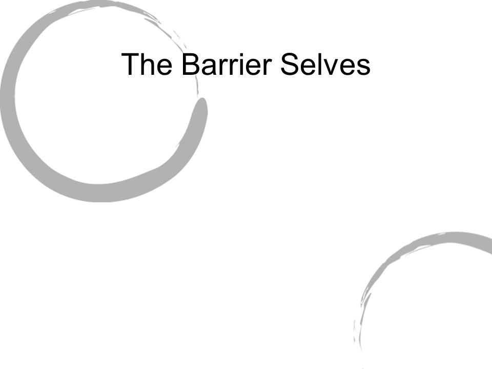 The Barrier Selves