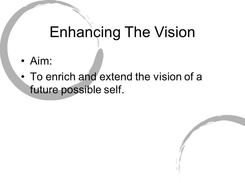 Enhancing The Vision Aim: