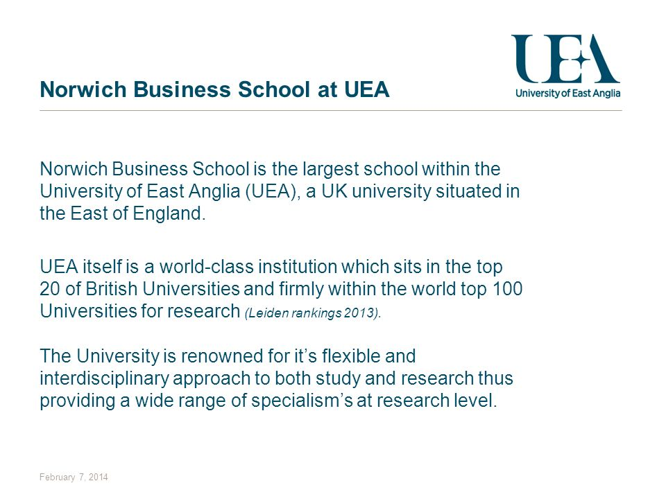 Norwich Business School at UEA