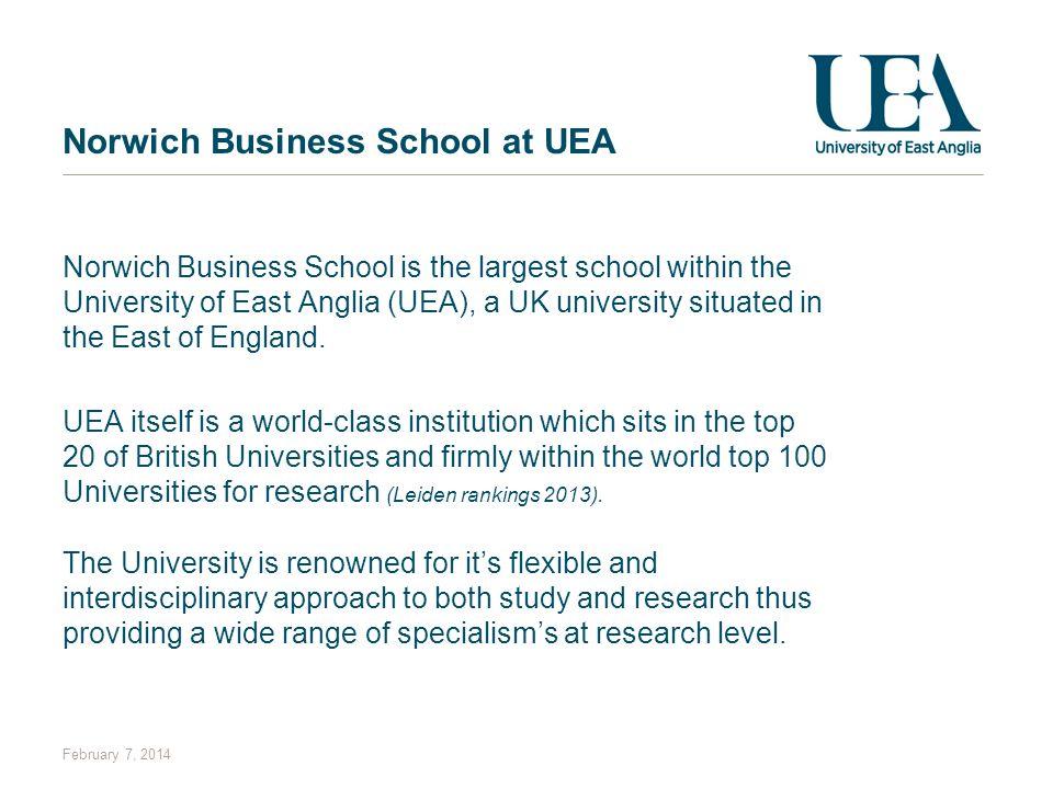 Norwich Business School at UEA