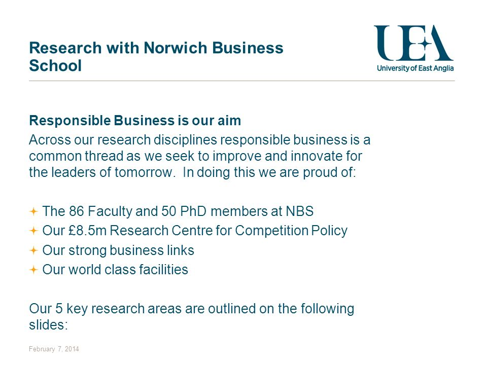 Research with Norwich Business School