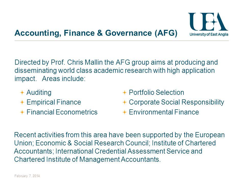 Accounting, Finance & Governance (AFG)