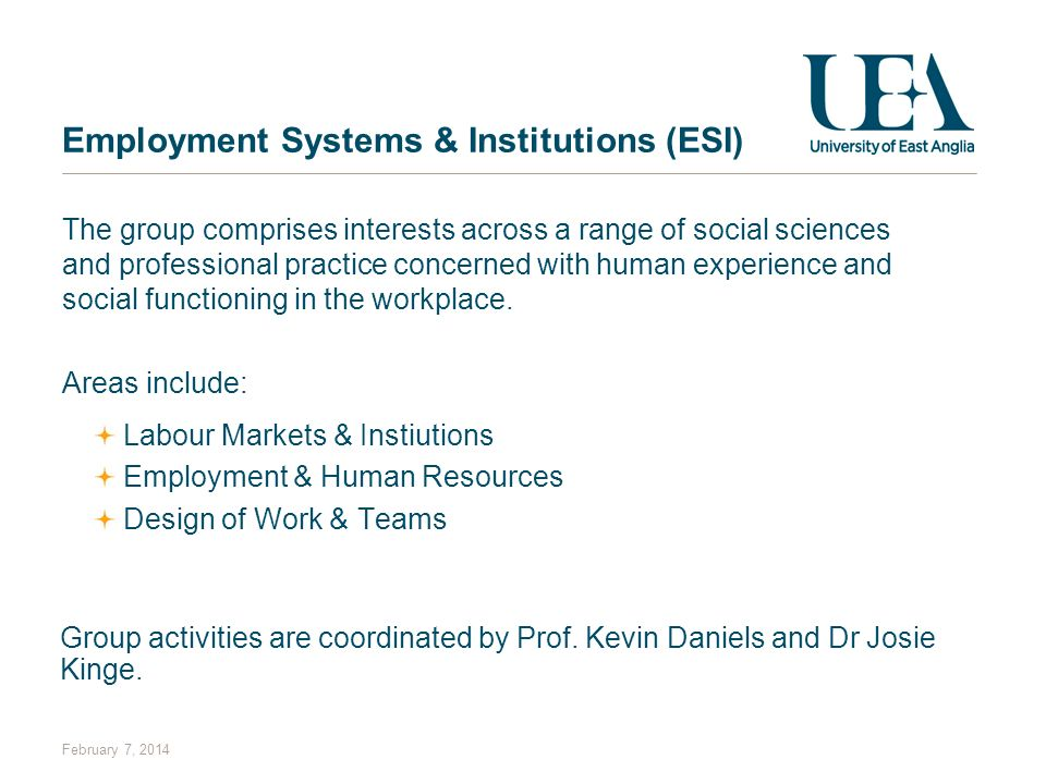 Employment Systems & Institutions (ESI)