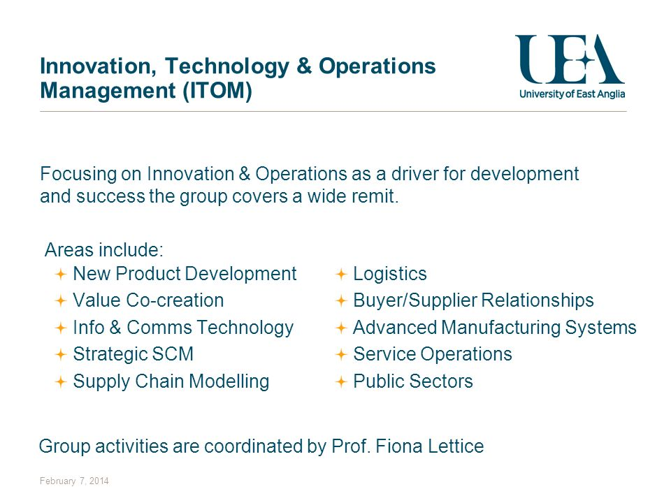Innovation, Technology & Operations Management (ITOM)