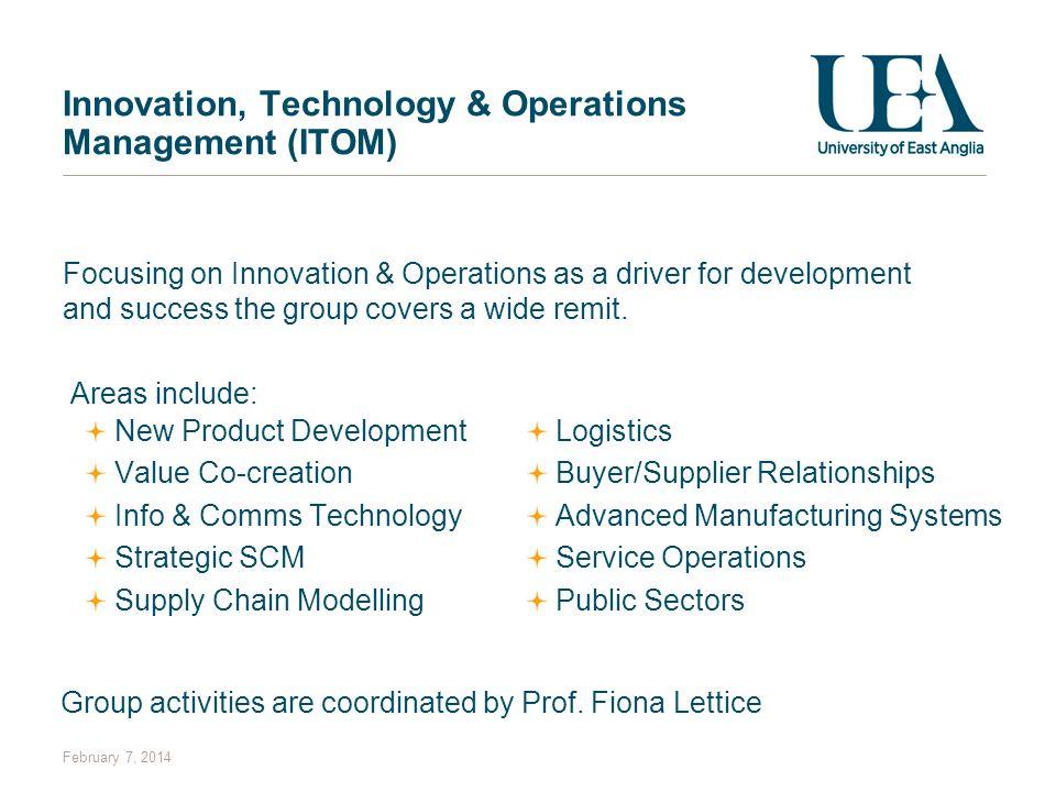 Innovation, Technology & Operations Management (ITOM)