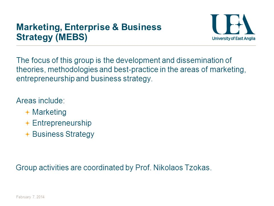 Marketing, Enterprise & Business Strategy (MEBS)