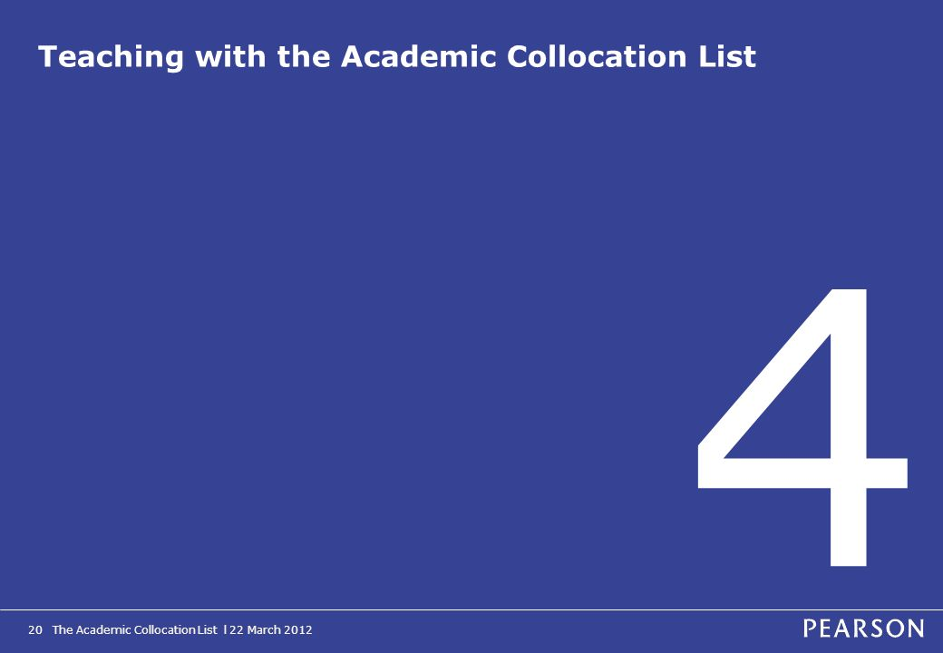 Teaching with the Academic Collocation List