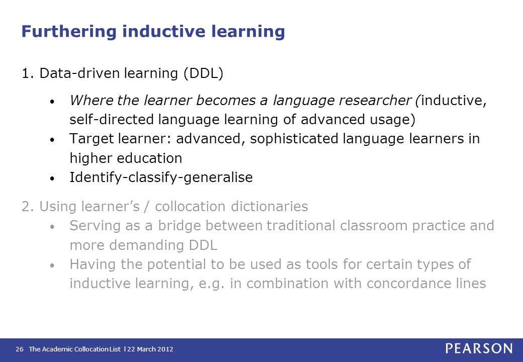 Furthering inductive learning