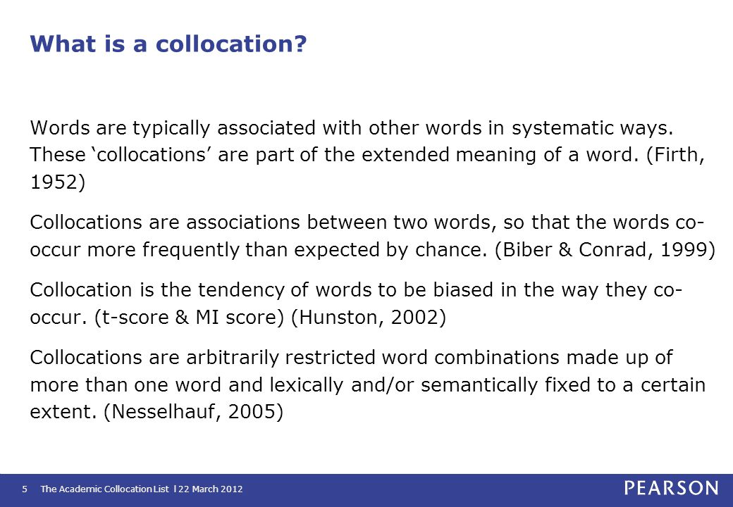 What is a collocation