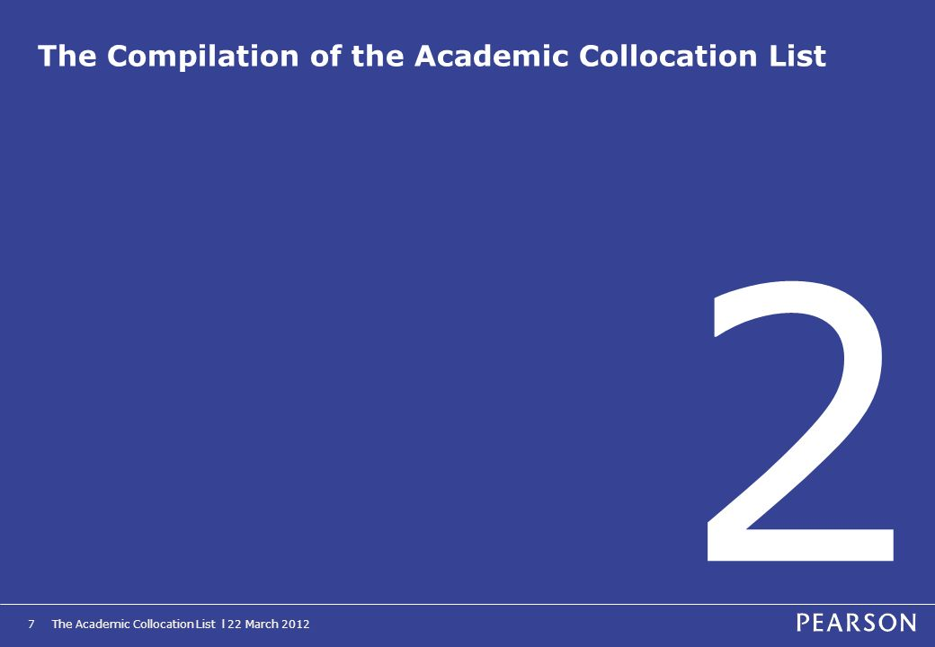 The Compilation of the Academic Collocation List
