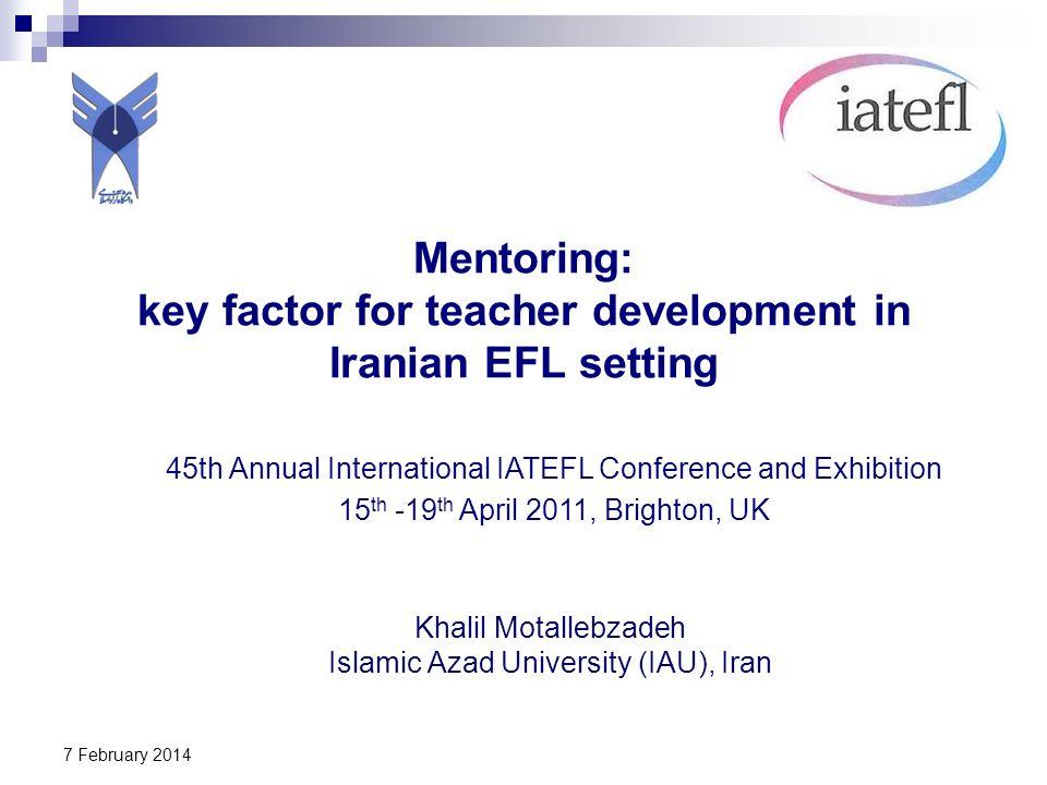 Mentoring: key factor for teacher development in Iranian EFL setting