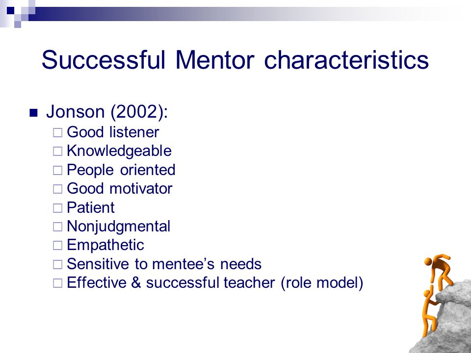 Successful Mentor characteristics