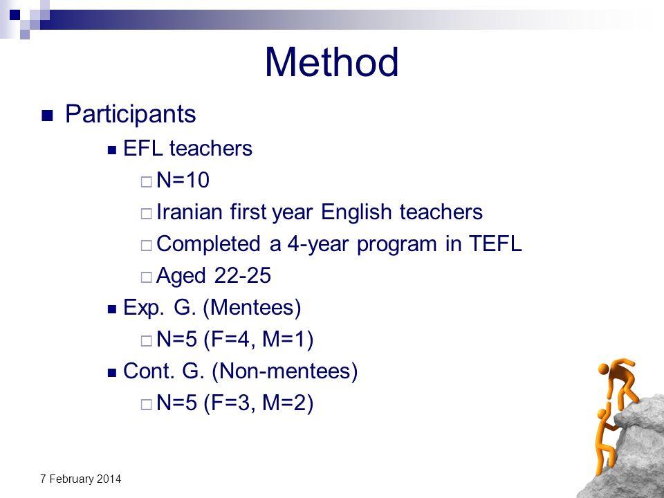 Method Participants EFL teachers N=10