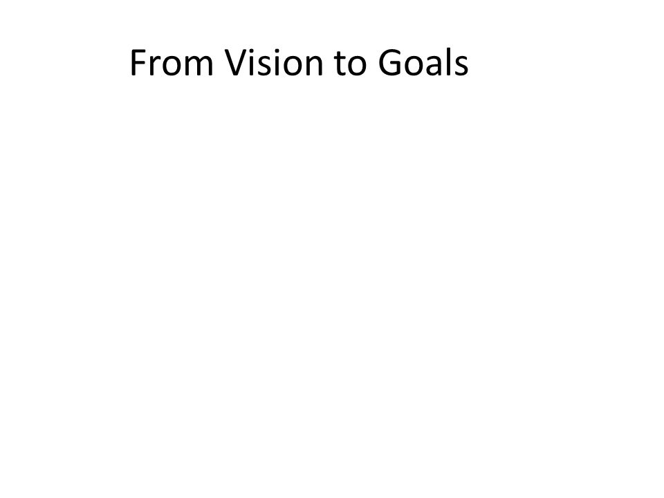 From Vision to Goals