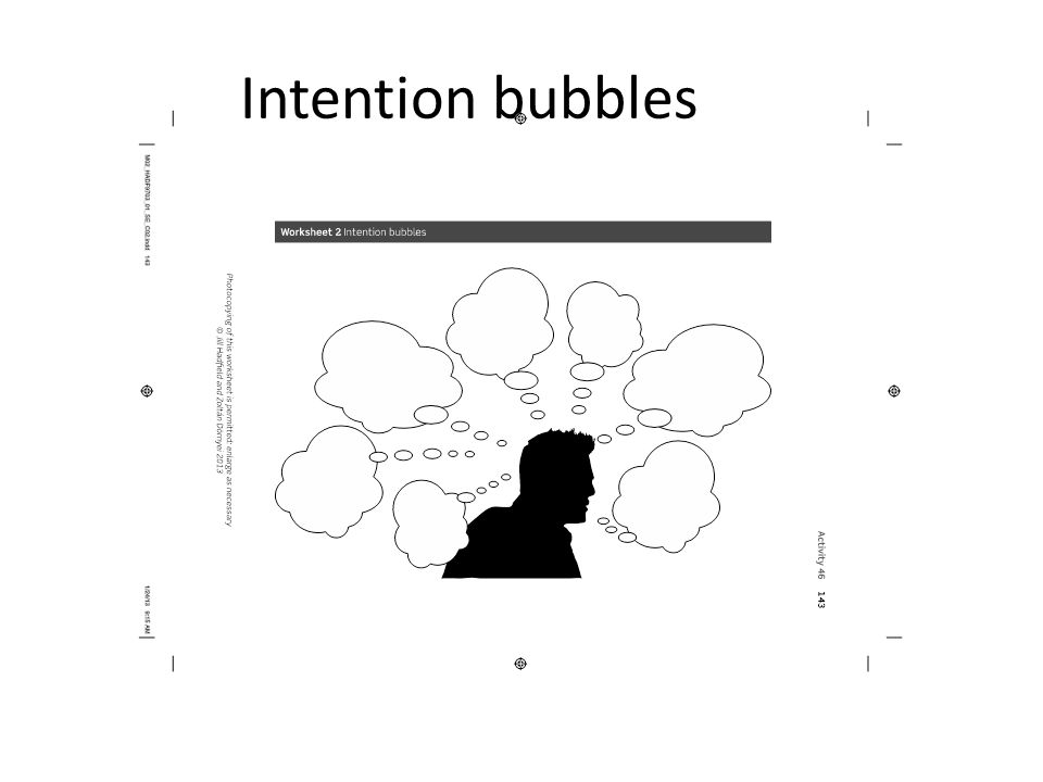 Intention bubbles