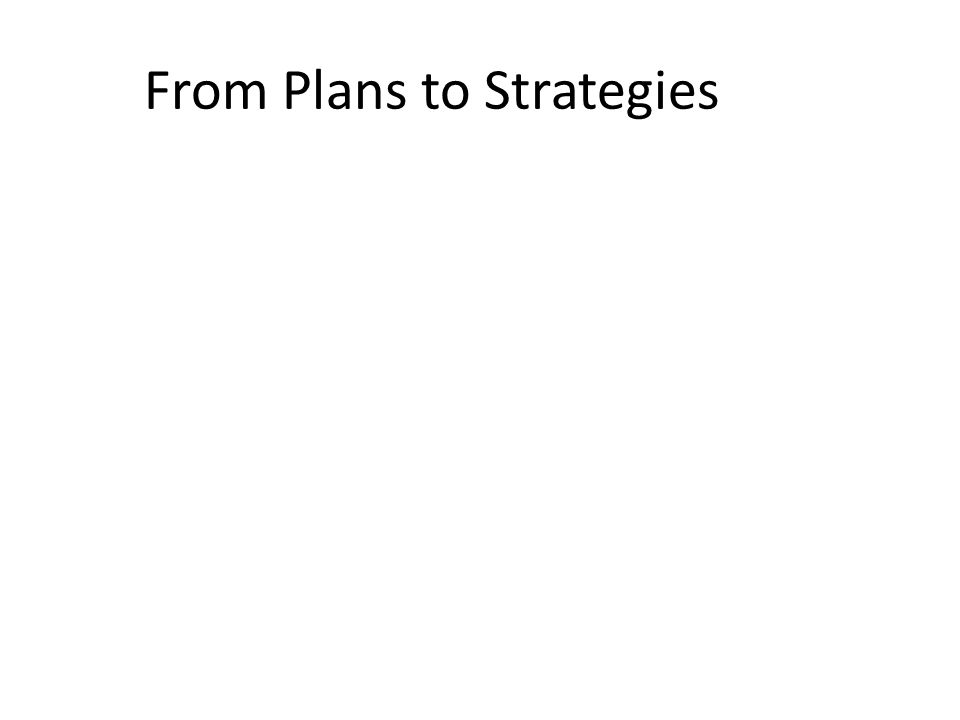 From Plans to Strategies