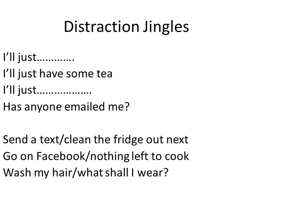 Distraction Jingles