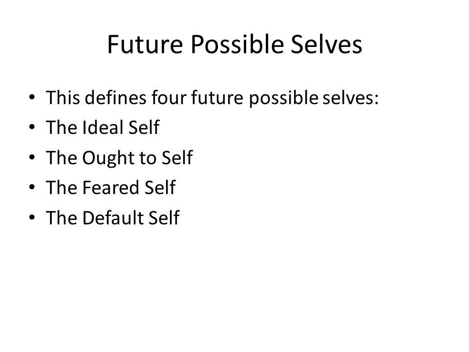 Future Possible Selves