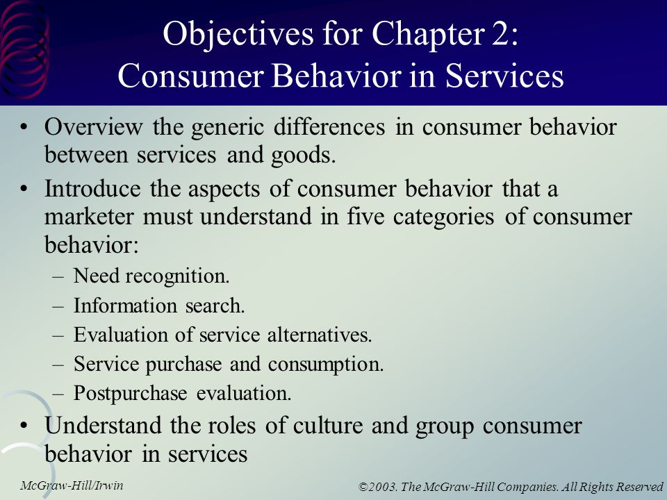 objectives consumer perception A main objective of marketing is to create customer value  which dimensions  are of interest and (2) the customer's perception on each dimension is relatively.