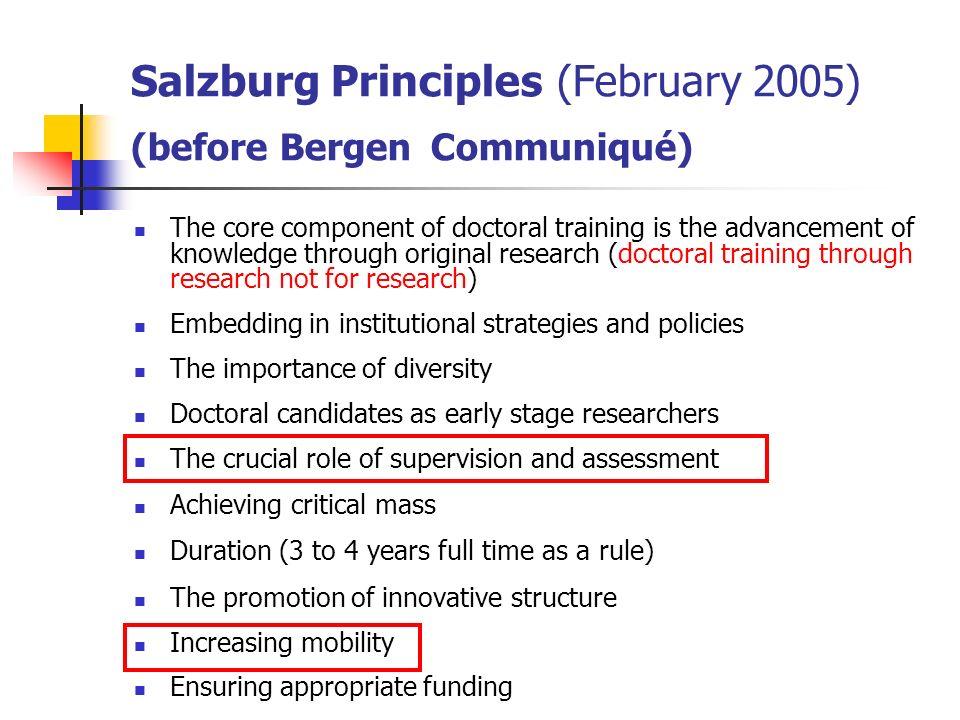 Salzburg Principles (February 2005) (before Bergen Communiqué)