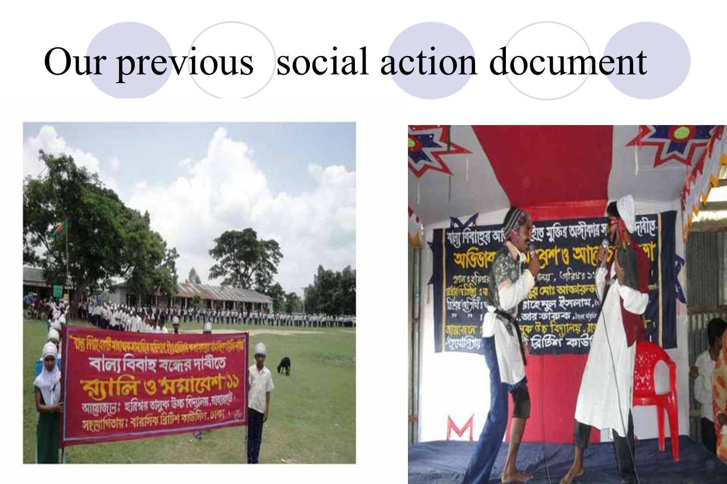 Our previous social action document