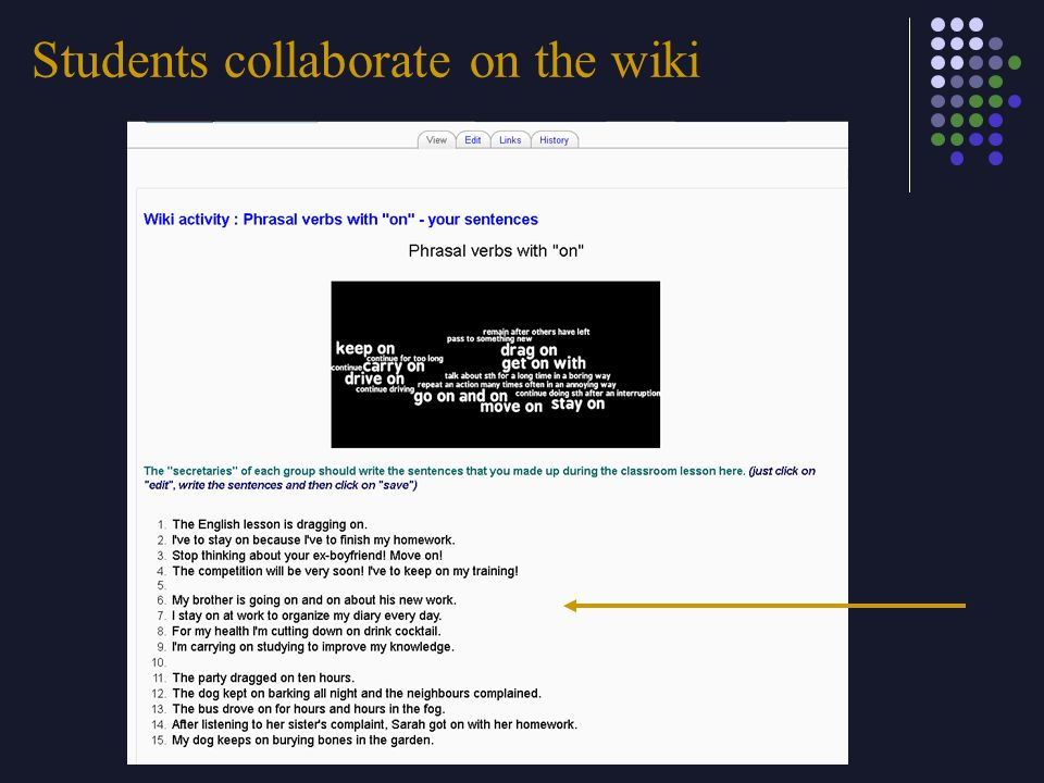 Students collaborate on the wiki