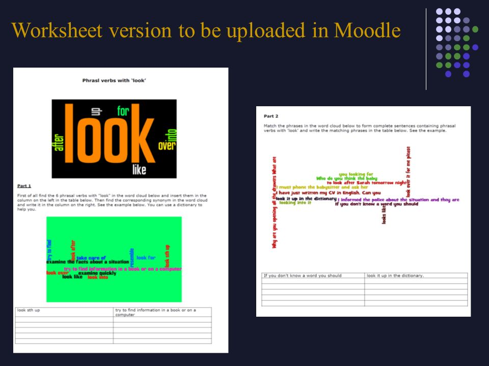 Worksheet version to be uploaded in Moodle
