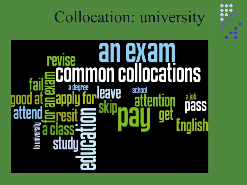 Collocation: university
