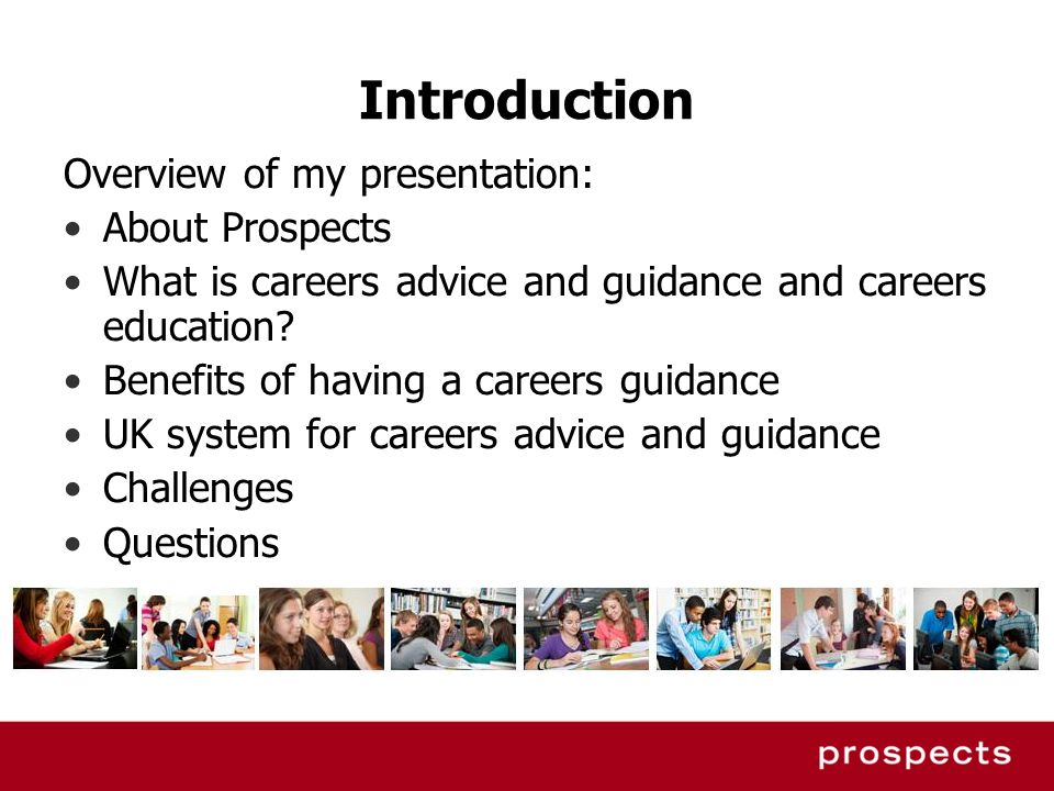 Introduction Overview of my presentation: About Prospects