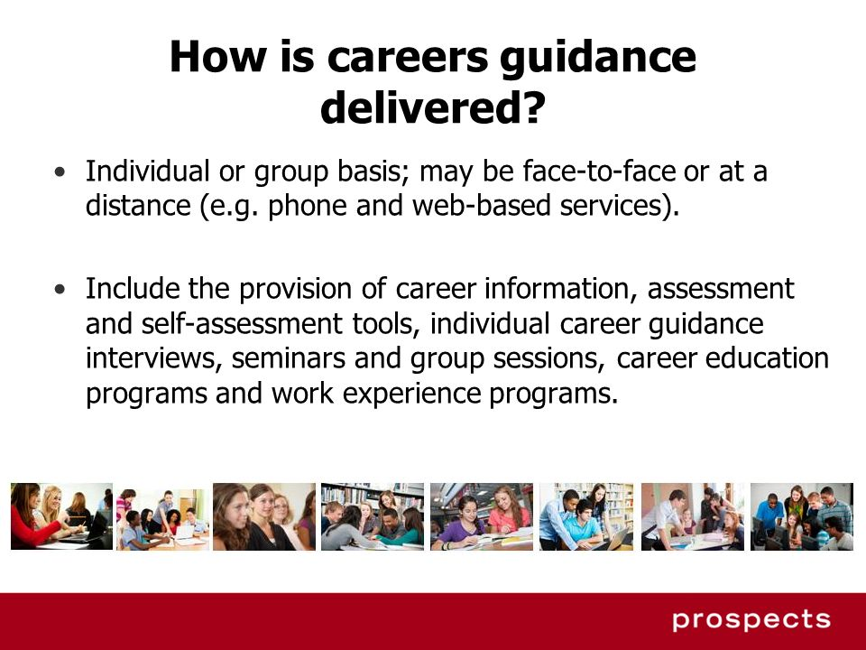 How is careers guidance delivered