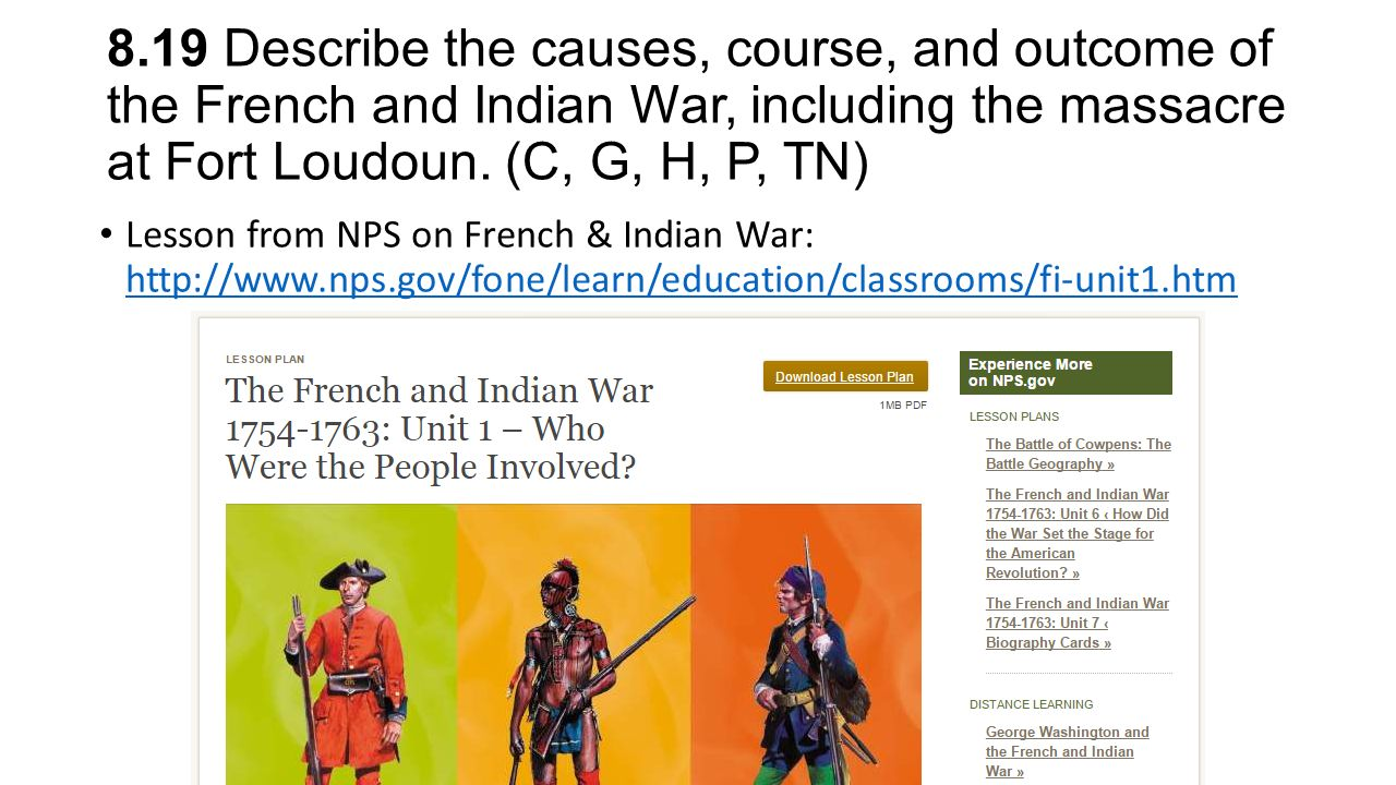an analysis of the french and indian war Symes history this week in history george washington and the french and indian war fill out archives photo analysis worksheet for each image, with your.