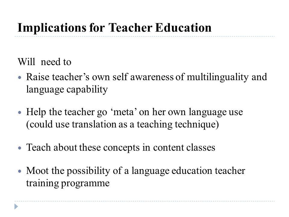 Implications for Teacher Education