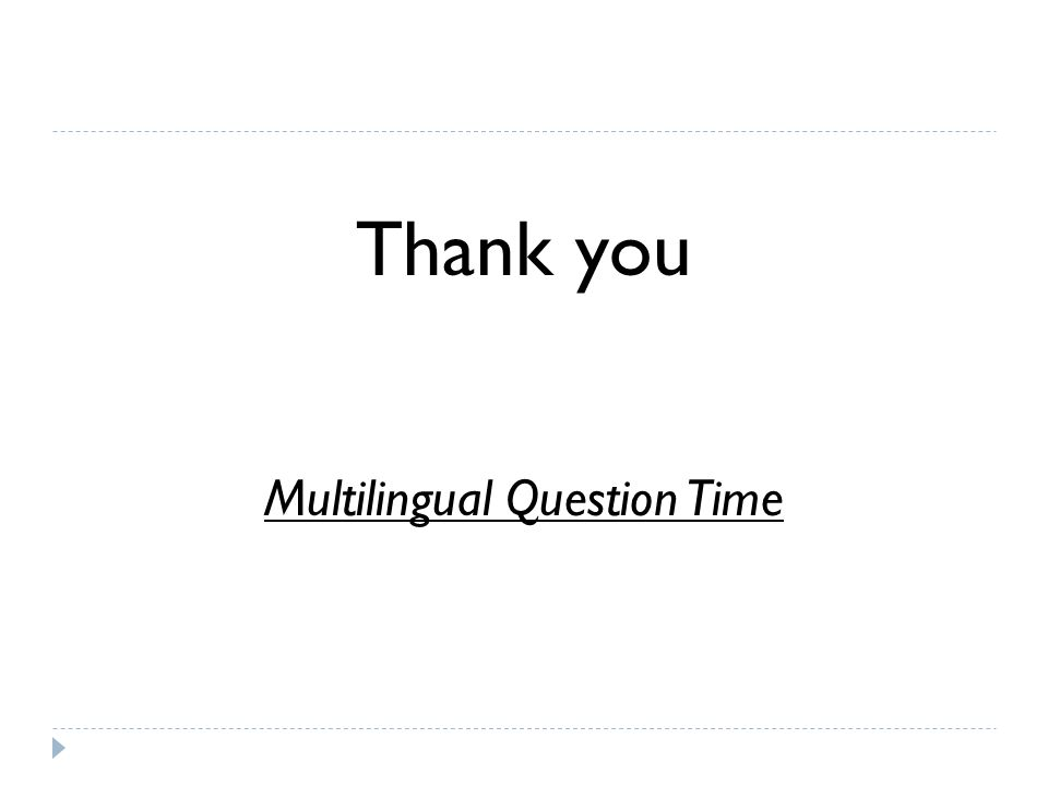 Multilingual Question Time