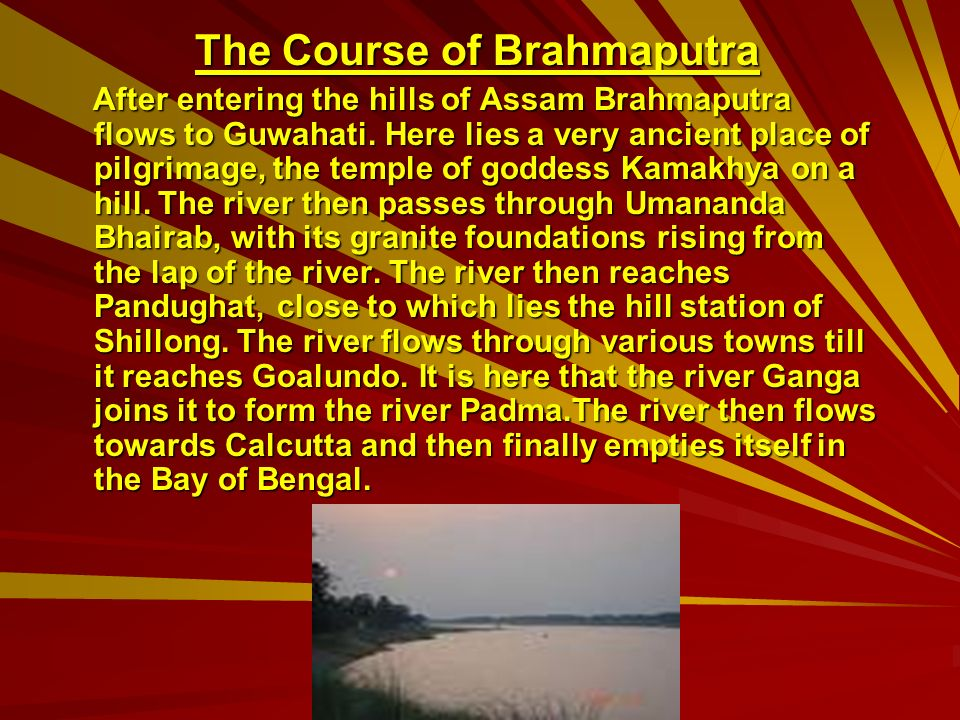 The Course of Brahmaputra