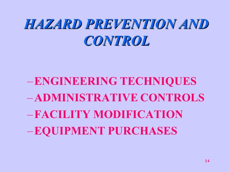 hazard prevention and control The first rule of the food safety modernization act of 2011, preventive controls,  is now in effect here's a list of the top 10 hazards for preventive.
