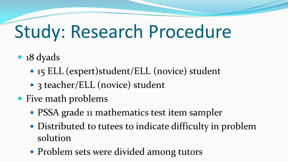 Study: Research Procedure
