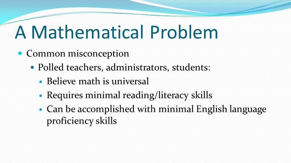 A Mathematical Problem